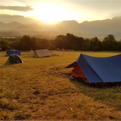 camp à Monestier du Percy du 9 au 15 juillet 2018